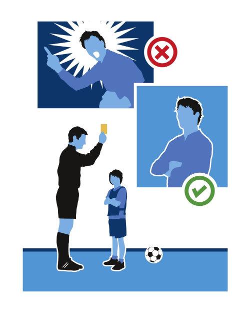 Ilustração vetorial de treinador de futebol