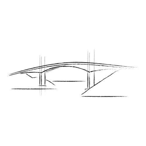 Animação de linha da ponte