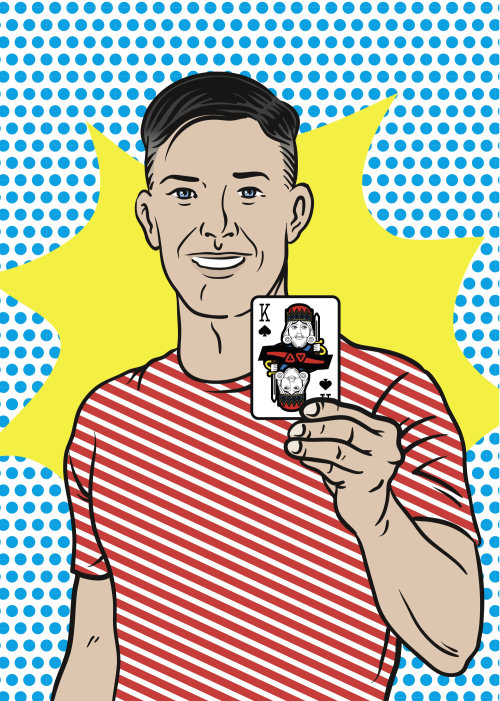 Cartoon Illustration of playing card