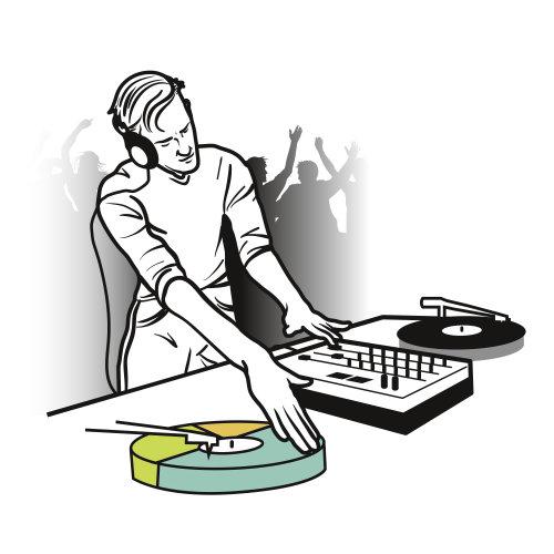 Ilustração de pessoas de DJ
