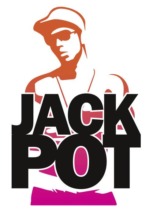 Vector lettering of jack pot