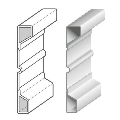 Technical illustration of shelf
