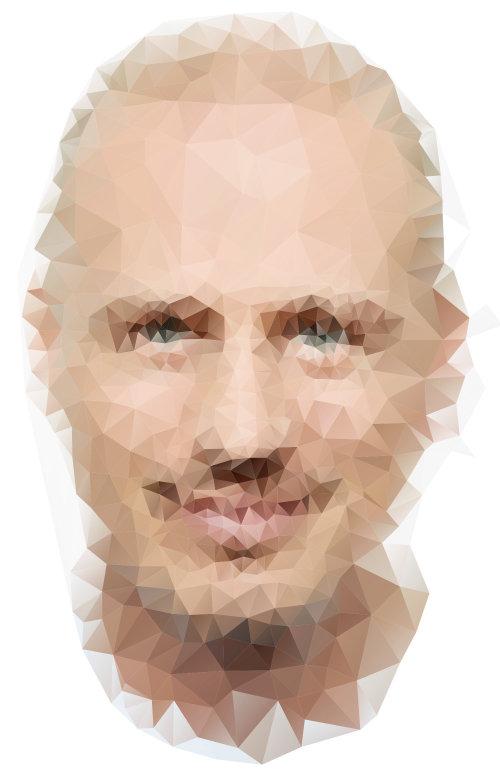 Retrato digital de homem
