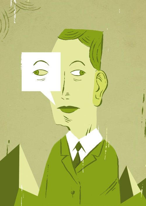 Ilustração de agente secreto