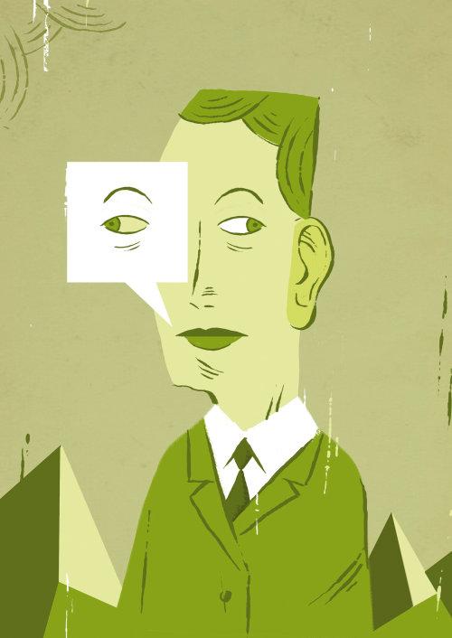 Illustration of secret agent
