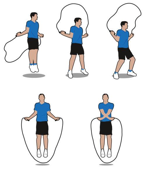 Exercício de pular corda - Uma ilustração de Tim Weiffenbach