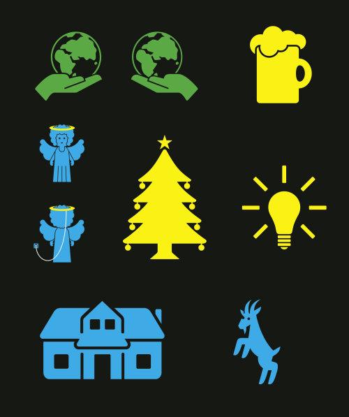 Ilustração do vetor de ícones de Natal