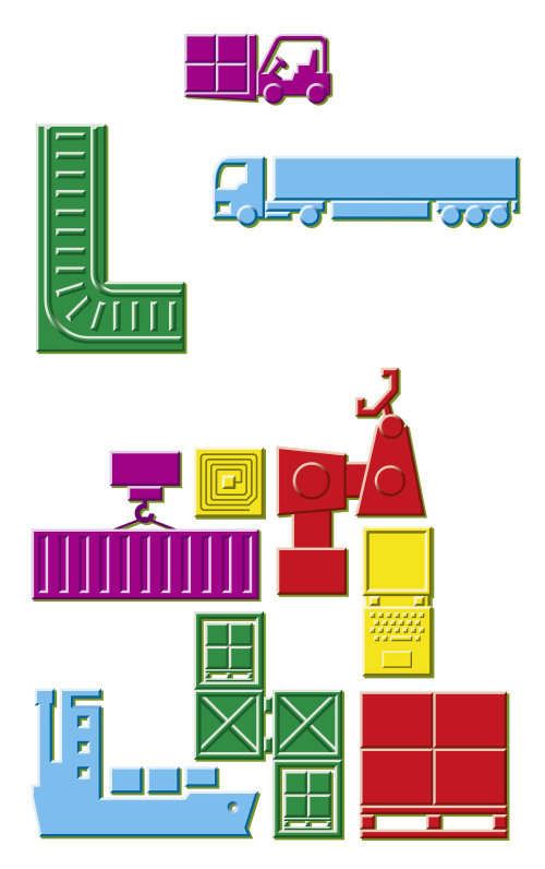 Ilustração vetorial de ícones de transporte