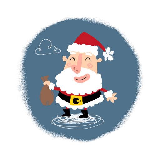 Ilustração do Papai Noel infográfico