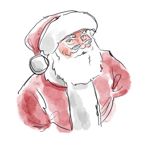 Vector illustration of Santa