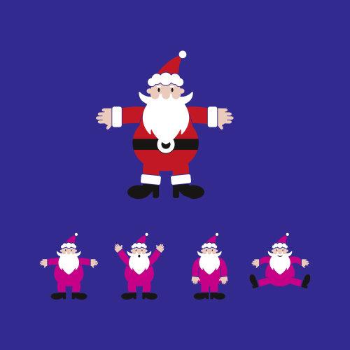 Comic Santa illustration by Tim Weiffenbach
