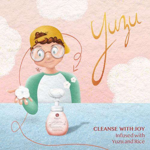 Advertising of Yuzu Flower Foam Hand Wash