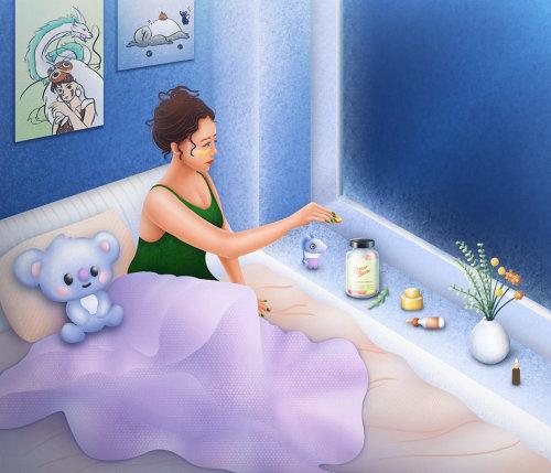 压力熊素食 CBD 软糖幻想海报
