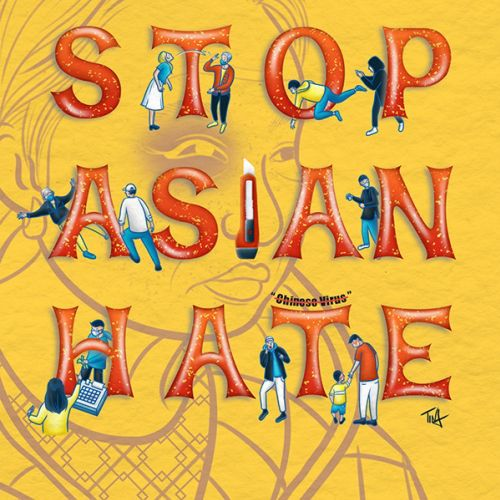 Stop Asian Hate political poster art