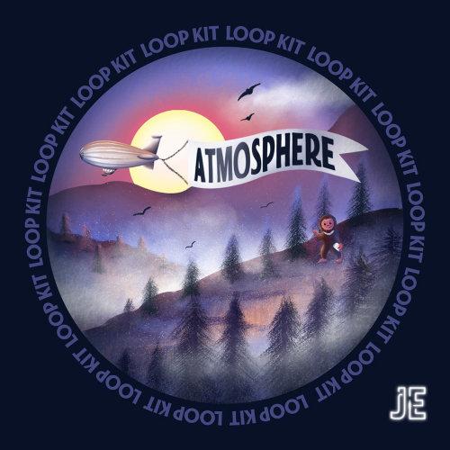 atmosphere, ep cover art, cover art, music album cover, vinyl cover, vinyl illustration, retro illus