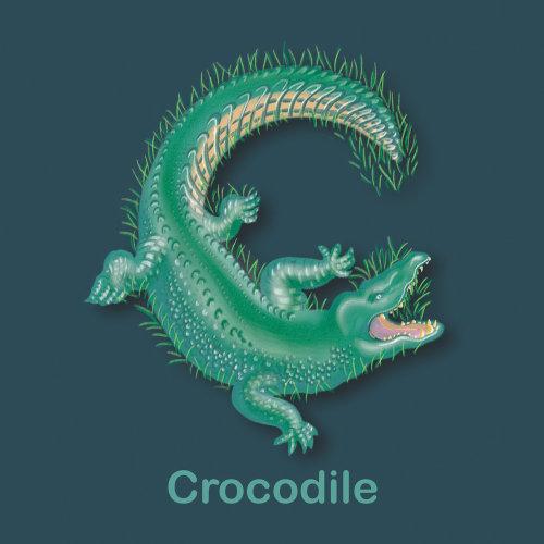 C for Crocodile, crocodile illustration, abc book, childrens book abc, tina mei illustrator