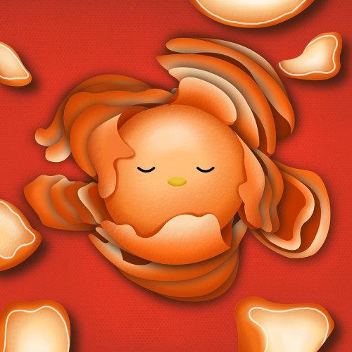 橙色水果的GIF动画