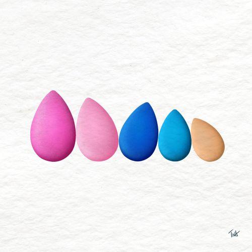 beauty blender, beauty blender gif, makeup sponge illustration, cosmetic tools, Beauty gif, beauty i