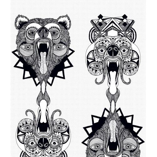 Graphic animal masks