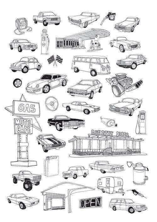 汽车图形线条艺术