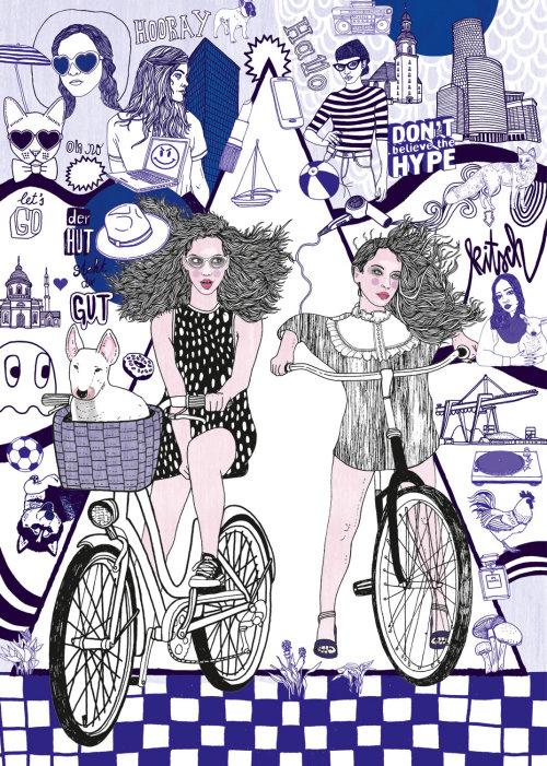 骑自行车的人女人