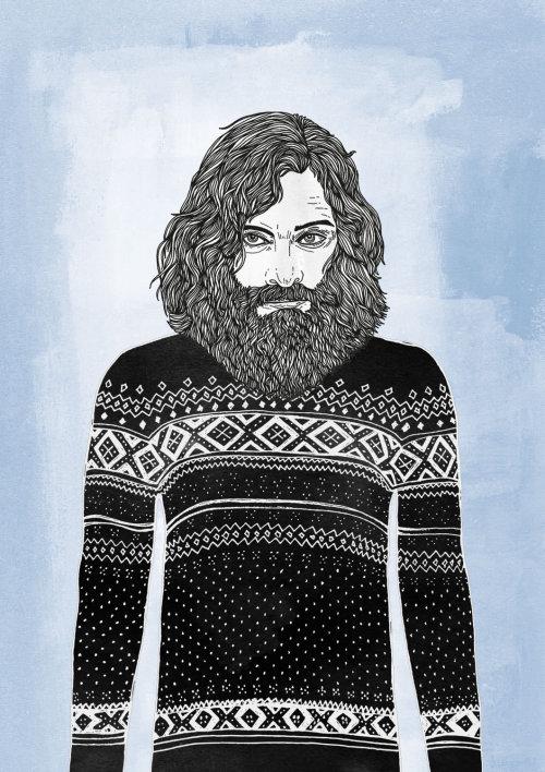 大胡子的人人