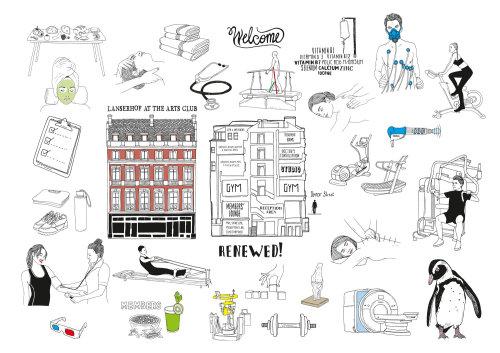 建筑线条艺术建筑物和动物