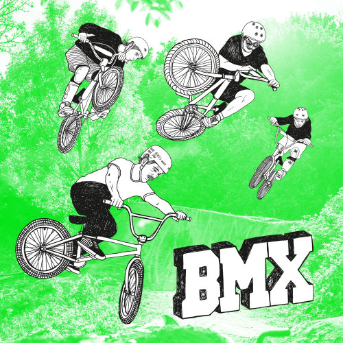 图形艺术BMX自行车