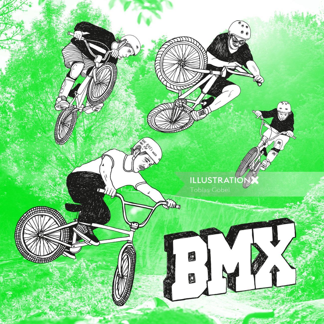 Graphic art BMX cycling