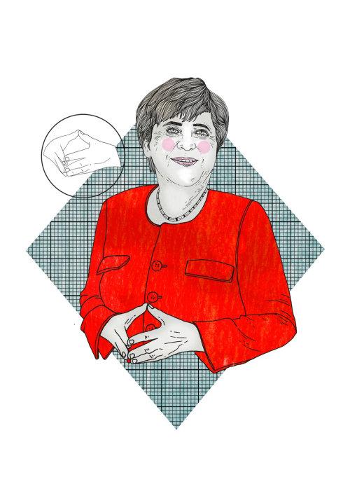 Femme politique graphique
