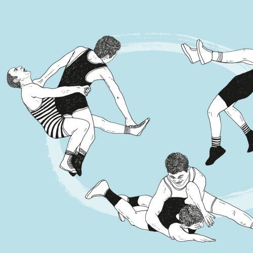 Graphic wrestling art