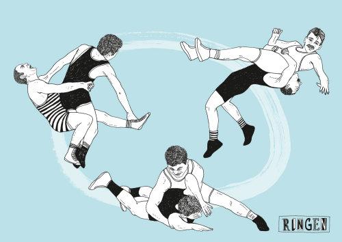 图形摔跤艺术