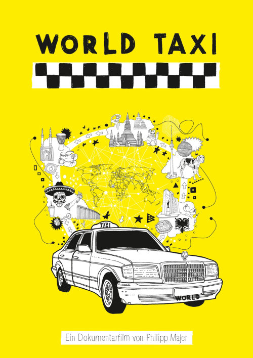 图形世界出租车传单