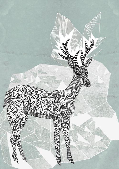 动物鹿艺术