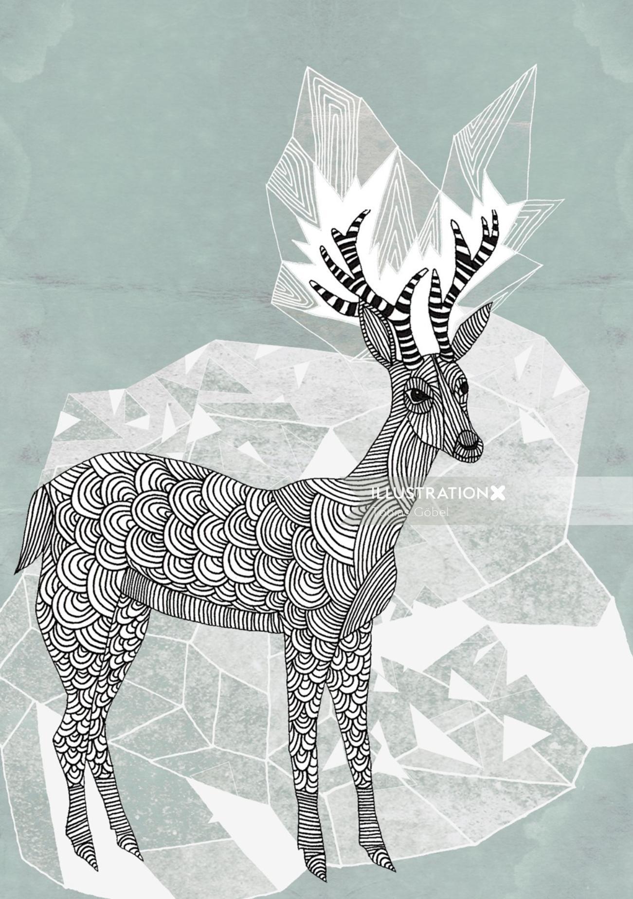 Animals Deer art