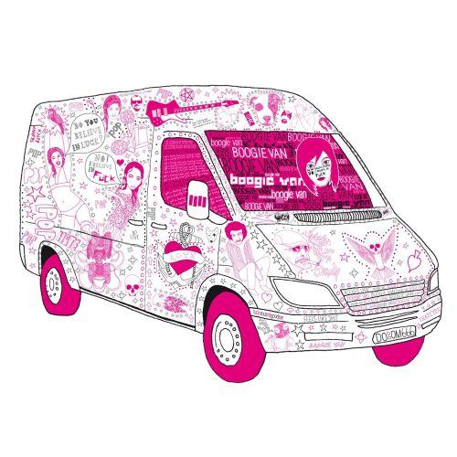 Graphic images on van