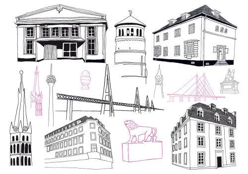 线条艺术建筑建筑