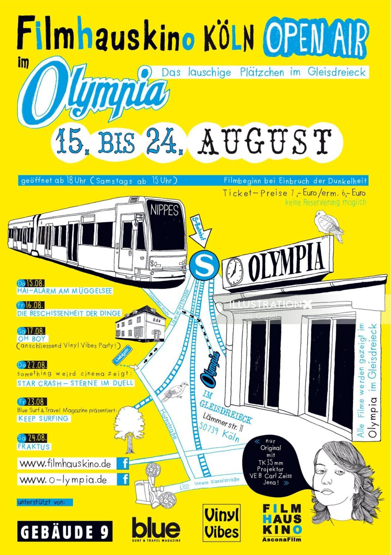 Graphic flyer filmhauskino