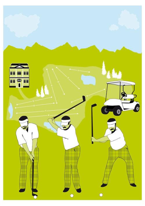 Les gens qui jouent au golf