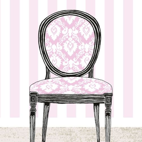 Graphic Chair in pink