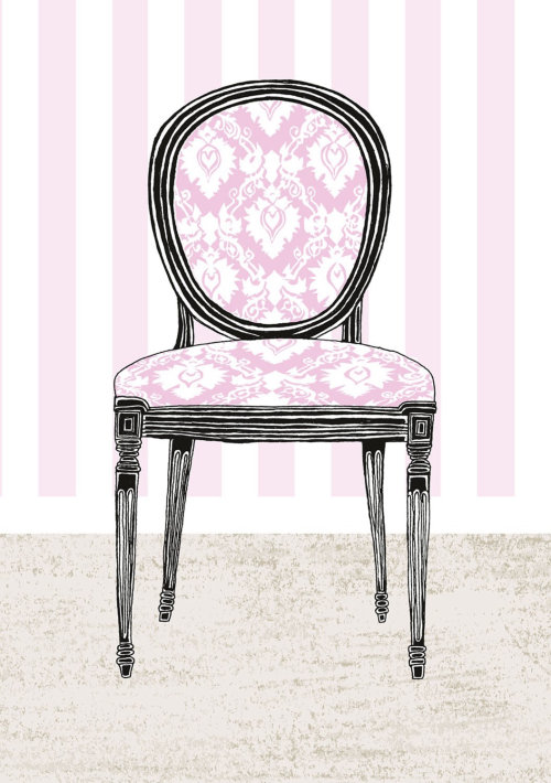 粉色图形椅子