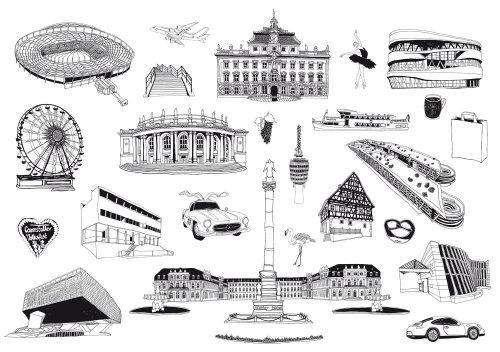 图形线条建筑