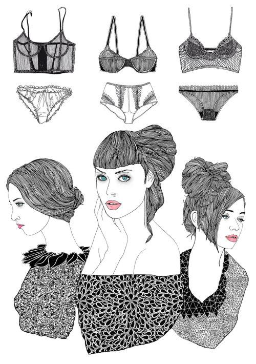 时尚女性内衣