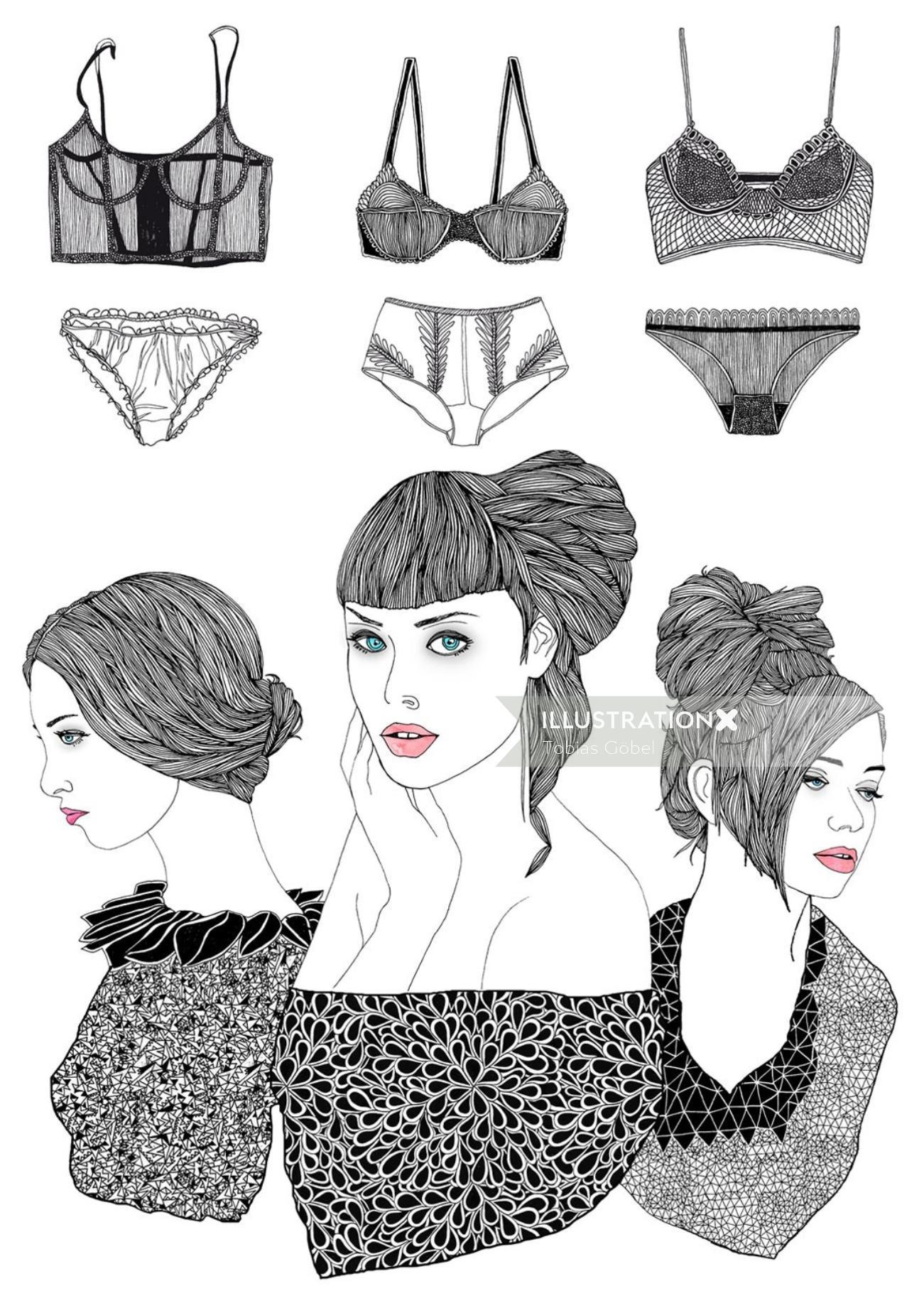 Fashion women lingerie
