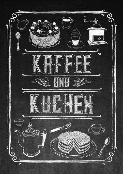Inscription Kaffee und Kuchen