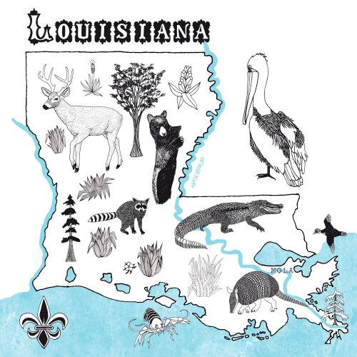 地图路易斯安那