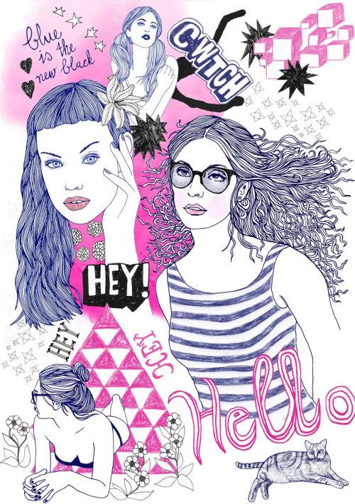 美女嘿你好