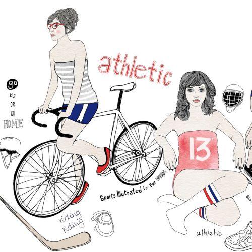 Athletics fashion illustration by Tobias Gobel