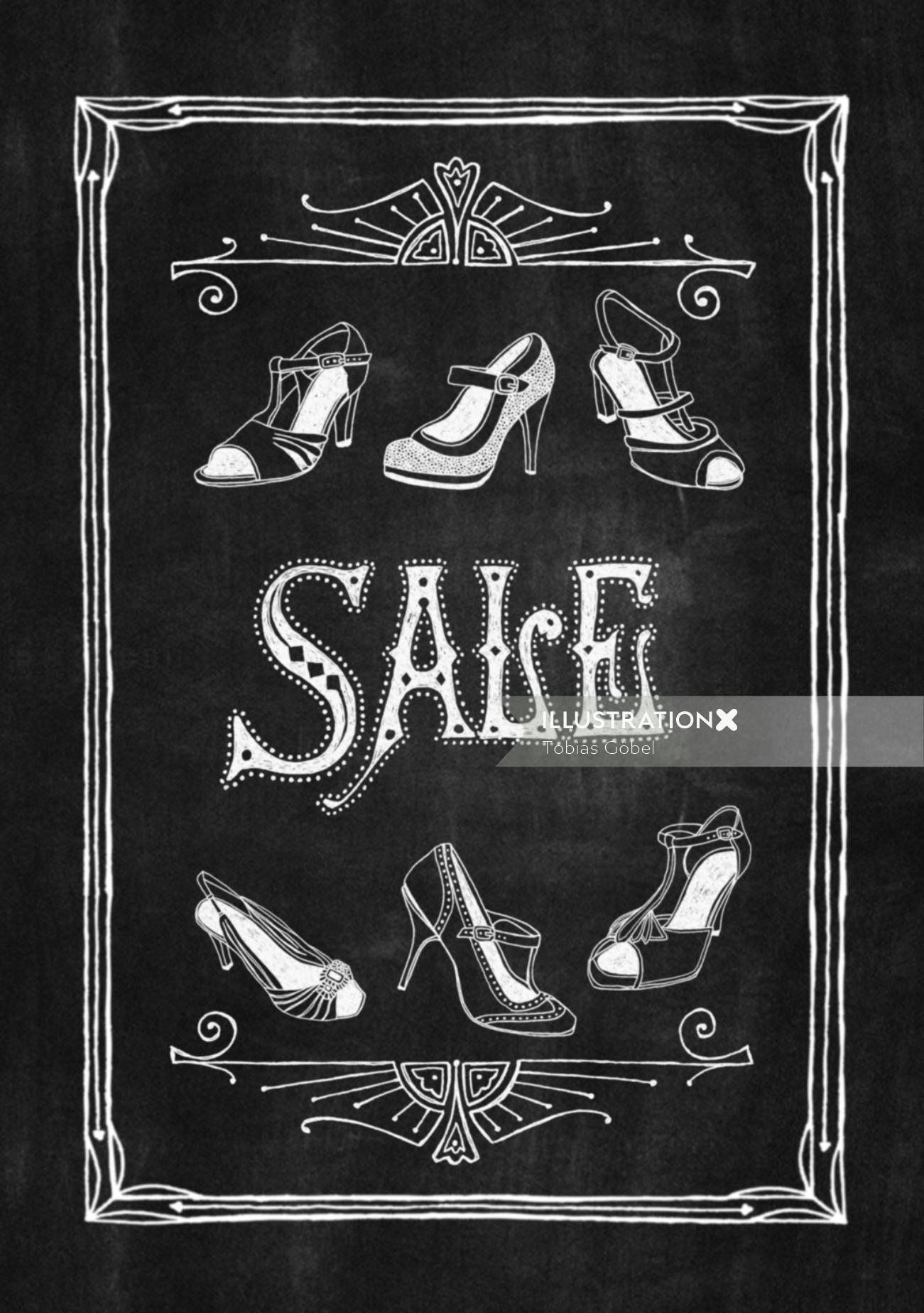 Graphic sales footwear