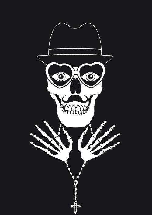 Squelette étrange graphique